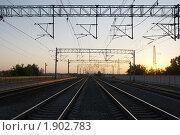 Купить «Железная дорога», фото № 1902783, снято 14 июля 2010 г. (c) Дмитрий Алимпиев / Фотобанк Лори