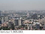 Панорама города Алма-Ата, Казахстан (2010 год). Стоковое фото, фотограф Рачия Арушанов / Фотобанк Лори