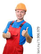 Купить «Строитель», фото № 1906979, снято 29 июля 2010 г. (c) Дмитрий Калиновский / Фотобанк Лори