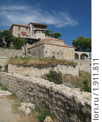 Купить «Черногория, Ульцин, старый город, ресторан», фото № 1911811, снято 4 августа 2010 г. (c) Верещагина Дарья / Фотобанк Лори