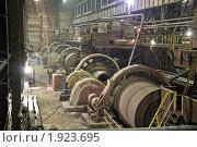 Купить «Внутри промышленного предприятия (барабаны по разделению породы)», фото № 1923695, снято 19 сентября 2008 г. (c) Ivan Ru / Фотобанк Лори