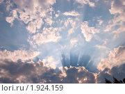 Купить «Небо в лучах заходящего солнца», фото № 1924159, снято 6 августа 2010 г. (c) Олег Тыщенко / Фотобанк Лори
