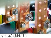 Купить «Промышленное электрооборудование. Внутреннее оборудование силовых электрических шкафов», фото № 1924411, снято 4 июня 2007 г. (c) Юрий Кобзев / Фотобанк Лори