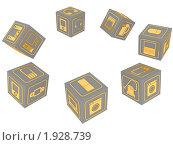 Купить «Бытовая техника. Хоровод из кубиков», иллюстрация № 1928739 (c) WalDeMarus / Фотобанк Лори