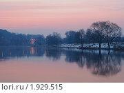 Рассвет под Звенигородом. Стоковое фото, фотограф Иван Котов / Фотобанк Лори
