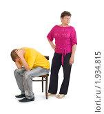 Женщина ссорится с сыном. Стоковое фото, фотограф Типляшина Евгения / Фотобанк Лори