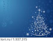 Купить «Новогодний фон с елкой», иллюстрация № 1937315 (c) Алексей Тельнов / Фотобанк Лори