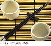 Набор для суши на циновке. Стоковое фото, фотограф Антон Ляшенко / Фотобанк Лори