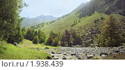 Купить «Река в горах», фото № 1938439, снято 19 августа 2018 г. (c) Михаил Сафиуллин / Фотобанк Лори