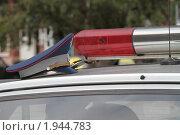 Купить «Милицейская фуражка на крыше патрульного автомобиля», фото № 1944783, снято 31 августа 2010 г. (c) Андрей Жухевич / Фотобанк Лори