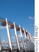 Реконструкция стадиона Олимпийский, Киев, Украина (2010 год). Стоковое фото, фотограф Павел Савин / Фотобанк Лори