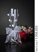 Купить «Бокалы свадебные», фото № 1958859, снято 31 августа 2010 г. (c) Оксана Белая / Фотобанк Лори