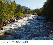 Купить «Горная река Мульта», фото № 1960943, снято 20 августа 2010 г. (c) Andrey M / Фотобанк Лори