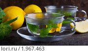 Купить «Мятный чай с лимоном», фото № 1967463, снято 9 сентября 2009 г. (c) Наталия Кленова / Фотобанк Лори
