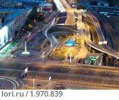 Купить «Транспортная развязка ТТК и Кутузовского проспекта. Вид сверху», фото № 1970839, снято 8 сентября 2010 г. (c) Liseykina / Фотобанк Лори