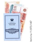 Сберегательная книжка и деньги (2010 год). Редакционное фото, фотограф Денис Шашкин / Фотобанк Лори