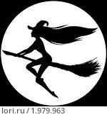 Купить «Ведьма на помеле», иллюстрация № 1979963 (c) Виктория Калинина / Фотобанк Лори