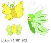 Купить «Забавные бабочки», иллюстрация № 1981903 (c) Евгения Малахова / Фотобанк Лори