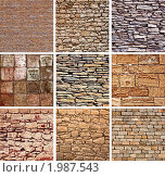 Купить «Поверхности декоративного камня», фото № 1987543, снято 9 мая 2010 г. (c) Виктор Застольский / Фотобанк Лори