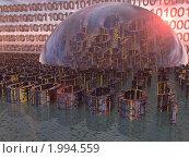 Двоичный код. Цифровая информация. Стоковая иллюстрация, иллюстратор Денис Шашкин / Фотобанк Лори