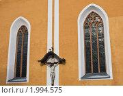 Церковная стена.  Шладминг, Австрия (2010 год). Стоковое фото, фотограф Николай Коржов / Фотобанк Лори