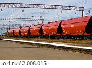Купить «Новый подвижной состав железной дороги», фото № 2008015, снято 10 октября 2009 г. (c) Евгений Ореховский / Фотобанк Лори