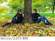 Купить «Осенняя история любви», фото № 2011499, снято 26 сентября 2010 г. (c) Okssi / Фотобанк Лори