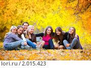 Купить «Подруги в осеннем парке», фото № 2015423, снято 1 октября 2010 г. (c) Алена Роот / Фотобанк Лори