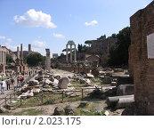 Рим, форум сегодня (2008 год). Стоковое фото, фотограф Дмитрий Казанцев / Фотобанк Лори