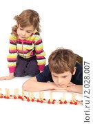 Купить «Дети играют в алфавит», фото № 2028007, снято 25 февраля 2010 г. (c) Losevsky Pavel / Фотобанк Лори