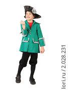 Купить «Маленький мальчик в историческом костюме», фото № 2028231, снято 16 февраля 2010 г. (c) Losevsky Pavel / Фотобанк Лори