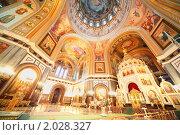 Купить «Храм Христа Спасителя в Москве, фрески на потолке и стенах», фото № 2028327, снято 14 декабря 2009 г. (c) Losevsky Pavel / Фотобанк Лори