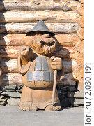Купить «Статуя из дерева. Китова пристань», фото № 2030191, снято 19 сентября 2010 г. (c) Андрей Петраковский / Фотобанк Лори