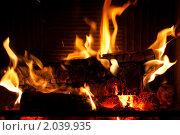 Купить «Огонь в камине», фото № 2039935, снято 9 октября 2010 г. (c) Катерина Макарова / Фотобанк Лори