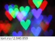 Купить «Фон боке. Сердца», фото № 2040859, снято 11 октября 2010 г. (c) Дарья Петренко / Фотобанк Лори
