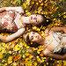 Две романтичные девушки лежат в осенних листьях, фото № 2043183, снято 19 сентября 2010 г. (c) Майер Георгий Владимирович / Фотобанк Лори
