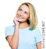 Портрет красивой задумчивой девушки. Стоковое фото, фотограф Валуа Виталий / Фотобанк Лори
