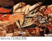 Рыбный рынок в Катании, Италия. Стоковое фото, фотограф Антон Журавков / Фотобанк Лори