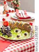 Купить «Фаршированная щука на новогоднем столе», фото № 2057507, снято 17 октября 2010 г. (c) Mariya Volik / Фотобанк Лори