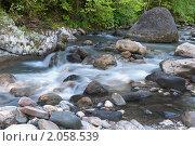 Купить «Горная река на Кавказе», фото № 2058539, снято 11 сентября 2010 г. (c) Федор Королевский / Фотобанк Лори