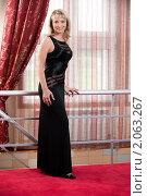 Купить «Красивая женщина в элегантном черном платье», фото № 2063267, снято 5 июня 2010 г. (c) BestPhotoStudio / Фотобанк Лори