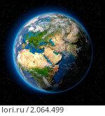 Купить «Земля в космосе», иллюстрация № 2064499 (c) Антон Балаж / Фотобанк Лори
