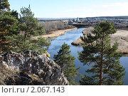 Купить «Река Чусовая, Свердловская область», фото № 2067143, снято 10 октября 2010 г. (c) Анастасия Семенова / Фотобанк Лори