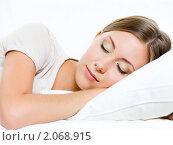 Купить «Спящая девушка», фото № 2068915, снято 28 августа 2010 г. (c) Валуа Виталий / Фотобанк Лори