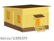 Купить «Дом с односкатной крышей», иллюстрация № 2070571 (c) Анатолий Матвейчук / Фотобанк Лори