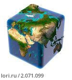 Купить «Планета Земля в форме куба», иллюстрация № 2071099 (c) Антон Балаж / Фотобанк Лори