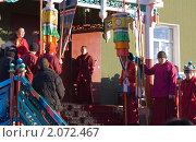"""Открытие дугана """"Ногоон Дара Эхэ"""" в Иволгинском Дацане (2010 год). Редакционное фото, фотограф Евгений Кузьмин / Фотобанк Лори"""