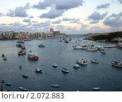 Мальта. Панорама. Бухта (2005 год). Стоковое фото, фотограф Мария Закржевская / Фотобанк Лори