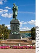 Купить «Москва, памятник А. С. Пушкину», фото № 2075219, снято 21 августа 2010 г. (c) ИВА Афонская / Фотобанк Лори