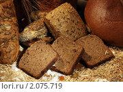 Купить «Нарезанный ржаной хлеб с изюмом, батон с семечками, выпечка с кунжутом и маком», фото № 2075719, снято 7 октября 2010 г. (c) Татьяна Белова / Фотобанк Лори